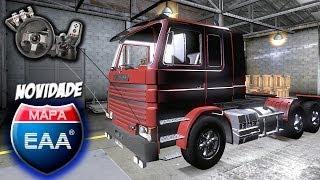 getlinkyoutube.com-Euro Truck Simulator 2 - Mapa EAA v1.1 - Scania 142 frontal - Peidando na serra - Com Logitech G27