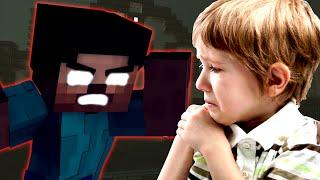 HEROBRINE MAKES KID DELETE HIS WORLD ON MINECRAFT (minecraft trolling)