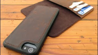 getlinkyoutube.com-Dock Artisan Leather Wallet Case For iPhone 5/5s Review