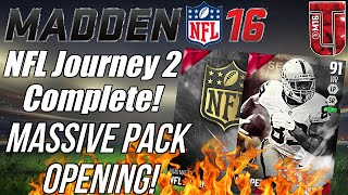 MUT 16 Journey 2 Completed! | Massive Pack Opening + FREE Elites! | Madden Ultimate Team 16