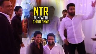 getlinkyoutube.com-NTR Making Fun With Naga Chaitanya   Rare and Unseen Video   TFPC