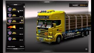 getlinkyoutube.com-Euro Truck Simulator 2 Scania Series 4 +Tandem+trailer
