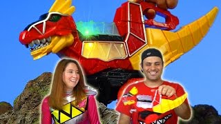 getlinkyoutube.com-Rumble N Roar T-Rex Zord Review! (Power Rangers Dino Charge)