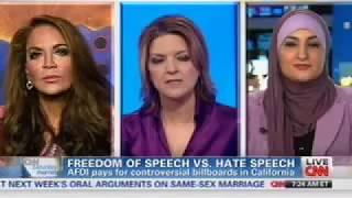 getlinkyoutube.com-Pamela Geller on CNN Countering a Vicious Islamic Supremacist on the AFDI Bus ads