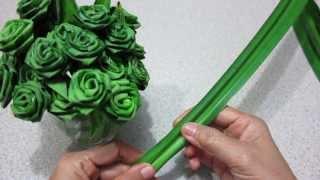 getlinkyoutube.com-ดอกกุหลาบจากใบเตย