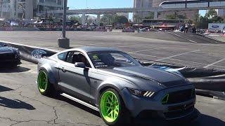 getlinkyoutube.com-2015 Mustang Drifting  SEMA 2014