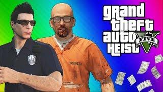 getlinkyoutube.com-GTA 5 Heists #1: Undercover Cops & Prison Break! (GTA 5 Online Funny Moments) [Part 2]
