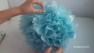 getlinkyoutube.com-Cómo hacer un pompón de papel para cumpleaños | facilisimo.com