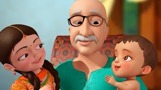 getlinkyoutube.com-Dadaji (Grand Father) | Hindi Rhymes for Children | Infobells