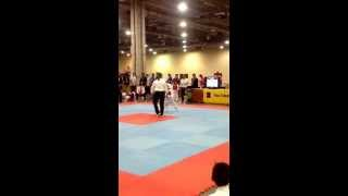 getlinkyoutube.com-6 year old orange belt sparring (2nd part) ociel first time in a tournamet