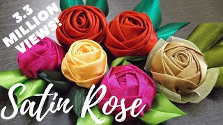 getlinkyoutube.com-D.I.Y. Handmade Satin Rose - Tutorial | MyInDulzens