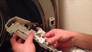 getlinkyoutube.com-Front Load Washer Door Latch Troubleshooting Replacement - Samsung Washer Repair (part #DC64-00519B)