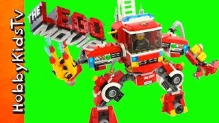 getlinkyoutube.com-LEGO MOVIE RESCUE Reinforcements set 70813 FIRE MECH build by HobbyKidsTV