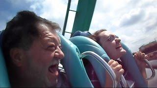 getlinkyoutube.com-Millenniumforce & Red Neck Woman Challenges Kraken Rollercoaster