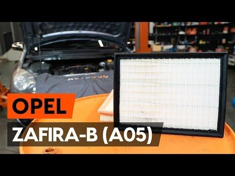 Как да сменим въздушен филтър на OPEL ZAFIRA-B 2 (A05) (ИНСТРУКЦИЯ AUTODOC)
