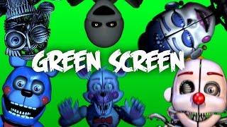 getlinkyoutube.com-FNaF: Sister Location Jumpscares - Green Screen [60 FPS]