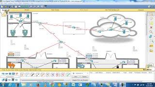 Enterprise Network Design in CISCO Packet Tracer (6.1.1)