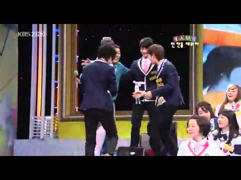 Onew, Minho, and Taemin dance to Amigo. Taemin in PJ's