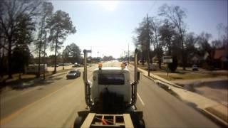 getlinkyoutube.com-Mack Superliner hauling Caterpillar 225 part 1
