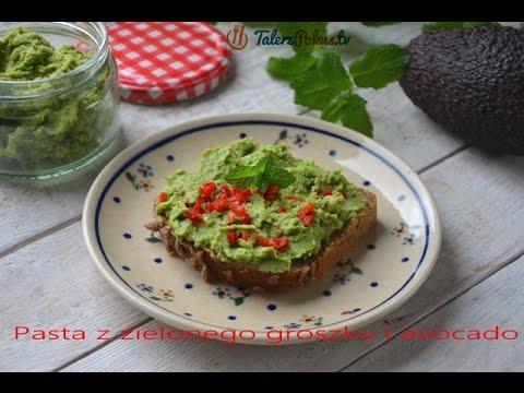 Pasta z zielonego groszku i avocado