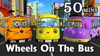 getlinkyoutube.com-Wheels On The Bus Go Round And Round - 3D Animation Kids' Songs | Nursery Rhymes for Children
