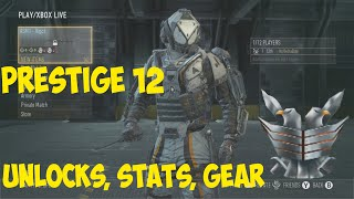 getlinkyoutube.com-Call of Duty Advanced Warfare: PRESTIGE 12 - Unlocks, Stats, Gear
