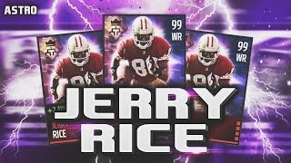 getlinkyoutube.com-99 OVERALL JERRY RICE LEAGUE CARD REVIEW/GAMEPLAY! - Madden Mobile 16