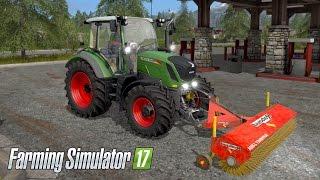 getlinkyoutube.com-Farming Simulator 17 - SWEEPING! Fendt 300 Vario & Rabaud Supernet 2200a