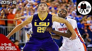 getlinkyoutube.com-Ben Simmons Full Highlightsvs Florida (1-9-16) 28 Pts 17 Rebs 4 Asts, BIONIC BEN!