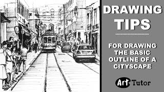 getlinkyoutube.com-Tips for sketching a cityscape for a pen drawing