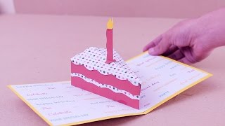 getlinkyoutube.com-Carta Pop up Mini Cake / Jeguridos