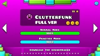 getlinkyoutube.com-Geometry Dash - Clutterfunk (FULL VER) All Coin / ♬ Partition