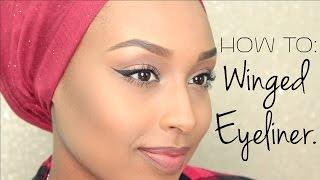 getlinkyoutube.com-My Winged Eyeliner Tutorial | Aysha Abdul
