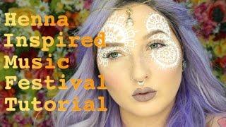 getlinkyoutube.com-Henna Inspired Music Festival Makeup Tutorial / Jordan Hanz (Coachella EDC)