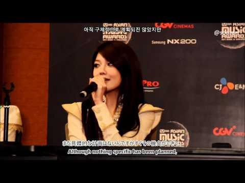 111129 Sooyoung - 2011 MAMA Press Conference (English, Korean, Japanese Subbed)