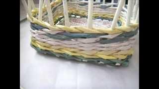 getlinkyoutube.com-Gazeteden sepet/square basket from newspaper