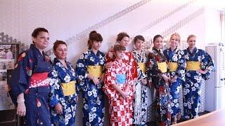 getlinkyoutube.com-日本和装 外国人のための「無料ゆかた着付教室」開催