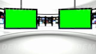 getlinkyoutube.com-News Studio 9 Green Screen Background