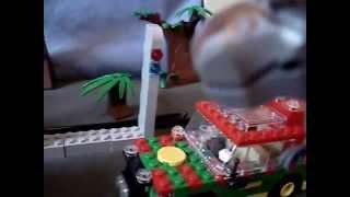 Jurassic Park T-rex Dinosaur Attack 4X4 Explorer Lego Custom