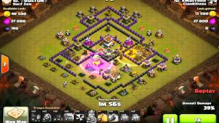 getlinkyoutube.com-Clash of Clans TH8 CRUSHING TH10 (threestar) and more awesome stuff