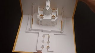 getlinkyoutube.com-Pop Up Taj Mahal Pop-up Paper Tutorial, The Symbol of Love - Origamic Architecture