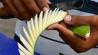 getlinkyoutube.com-Indian Street Food - AMAZING KNIFE SKILLS Chickpea Salad India