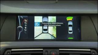 2011 BMW 5-Series Parking Assistant Demonstration and driving footage