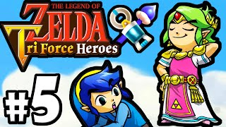 getlinkyoutube.com-The Legend of Zelda Triforce Heroes PART 5 Gameplay Walkthrough Online Co-Op (BOSS Arrghus) 3DS