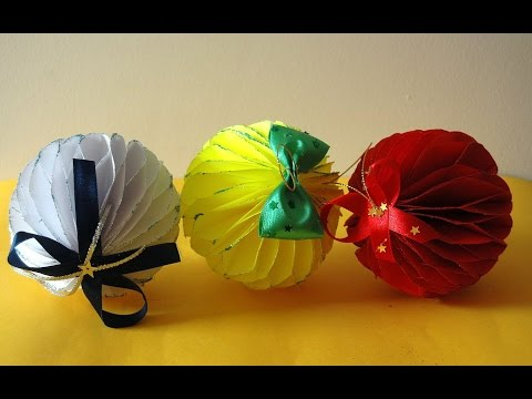 Bombka z papieru. Christmas ball  DIY