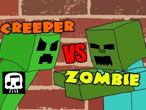 Minecraft Rap Battle - Creeper vs. Zombie [JT Machinima and
