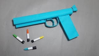 getlinkyoutube.com-| DIY | How to make a paper'' Ghost Gun'' that shoots paper bullets-Toy WEAPONS By Dr. Origami