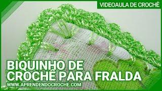 getlinkyoutube.com-Biquinho de Croche para Fralda - Aprendendo Crochê