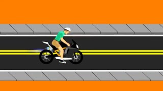 getlinkyoutube.com-FASTEST MOTORBIKE IN THE WORLD - Happy Wheels #6