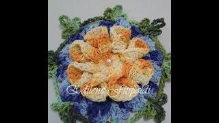 """getlinkyoutube.com-Flor Americana #Coleção """"Minhas flores em Crochê"""""""